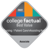 Best Value Associate Degree Colleges for Nursing Assistant/Aide and Patient Care Assistant/Aide