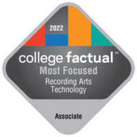 Most Focused Associate Degree Colleges for Recording Arts Technology/Technician in California
