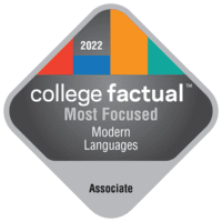 Most Focused Associate Degree Colleges for Modern Languages in the Far Western US Region