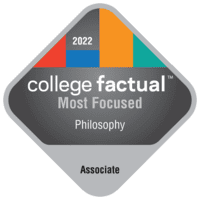 Most Focused Associate Degree Colleges for Philosophy in the Far Western US Region