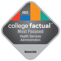 Most Focused Associate Degree Colleges for Health Services Administration in the Southeast Region
