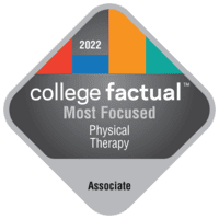 Most Focused Associate Degree Colleges for Physical Therapy/Therapist