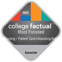 Most Focused Associate Degree Colleges for Nursing Assistant/Aide and Patient Care Assistant/Aide