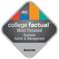 Most Focused Associate Degree Colleges for General Business Administration and Management in California
