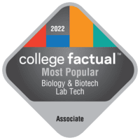 Most Popular Associate Degree Colleges for Biology & Biotech Lab Technician in the Southeast Region