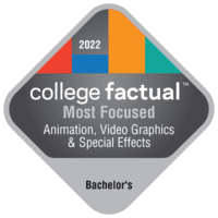 Most Focused Bachelor's Degree Colleges for Animation, Interactive Technology, Video Graphics & Special Effects in the New England Region