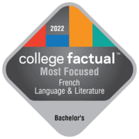 Most Focused Bachelor's Degree Colleges for French Language & Literature in the New England Region