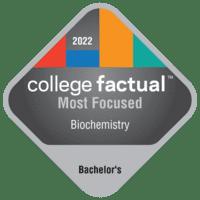 Most Focused Bachelor's Degree Colleges for Biochemistry, Biophysics & Molecular Biology in the Southwest Region