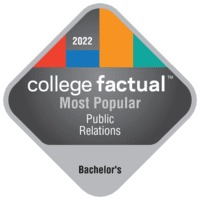 Most Popular Bachelor's Degree Colleges for Public Relations in the New England Region