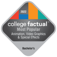 Most Popular Bachelor's Degree Colleges for Animation, Interactive Technology, Video Graphics & Special Effects in the New England Region