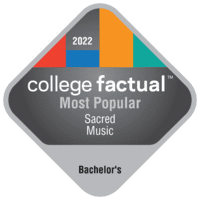 Most Popular Bachelor's Degree Colleges for Sacred Music