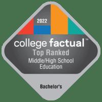 Best Junior High/Intermediate/Middle School Education & Teaching Bachelor's Degree Schools in Texas