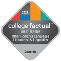 Best Value Doctor's Degree Colleges for Other Romance Languages, Literatures, & Linguistics