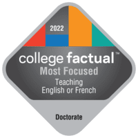 Most Focused Doctor's Degree Colleges for Teaching English or French