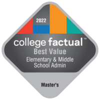 Best Value Master's Degree Colleges for Elementary & Middle School Administration/Principalship