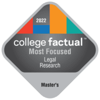 Most Focused Master's Degree Colleges for Legal Research in the Middle Atlantic Region