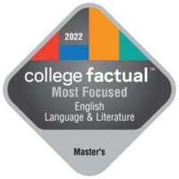Most Focused Master's Degree Colleges for English Language & Literature in the Far Western US Region
