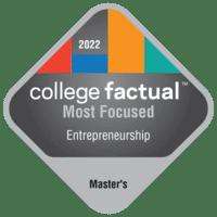 Most Focused Master's Degree Colleges for Entrepreneurship