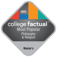 Most Popular Master's Degree Colleges for Philosophy & Religion