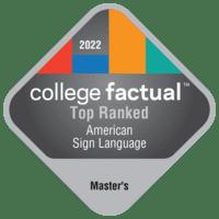 Best American Sign Language Master's Degree Schools