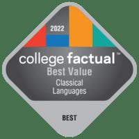 Best Value Colleges for Classical Languages & Literature