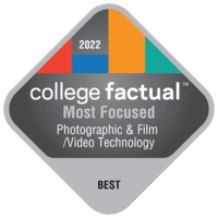 Most Focused Colleges for Photographic & Film/Video Technology/Technician & Assistant in the Middle Atlantic Region