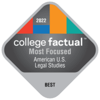 Most Focused Colleges for American/U.S. Law/Legal Studies/Jurisprudence