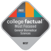 Most Focused Colleges for General Biomedical Sciences in the Southeast Region