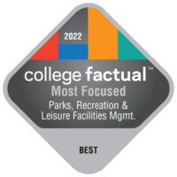Most Focused Colleges for Parks, Recreation & Leisure Facilities Management in the Southeast Region