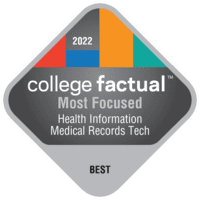 Most Focused Colleges for Health Information/Medical Records Technology/Technician in the New England Region