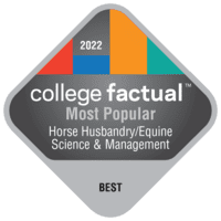 Most Popular Colleges for Horse Husbandry/Equine Science & Management in California