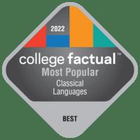 2022 Best Colleges in Classical Languages & Literature