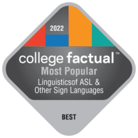 2022 Best Colleges in Linguistics of ASL & Other Sign Languages