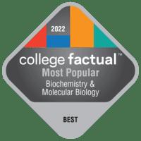 Most Popular Colleges for Biochemistry & Molecular Biology