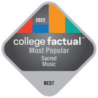 Most Popular Colleges for Sacred Music